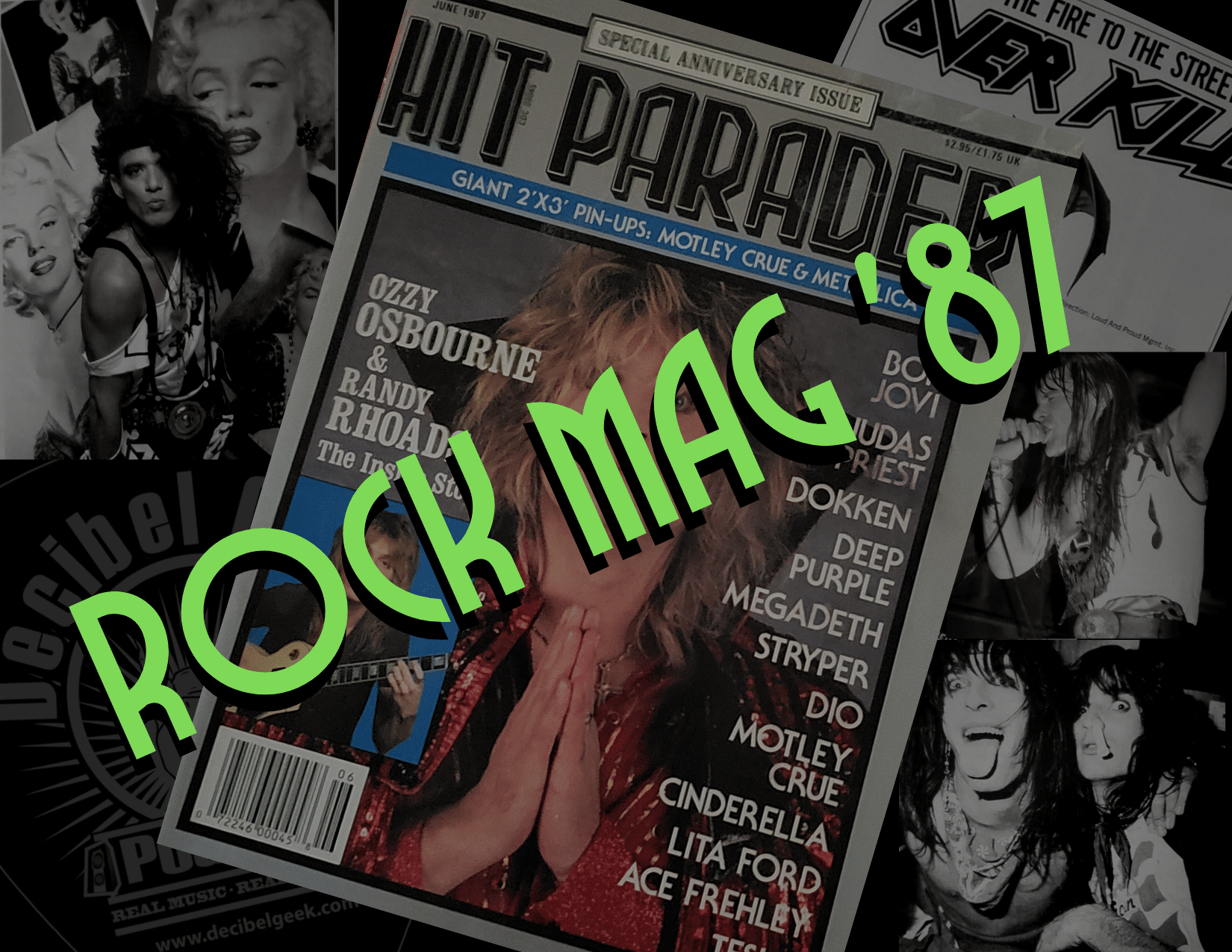 rock mag 87, hit parader, hard rock, heavy metal, music